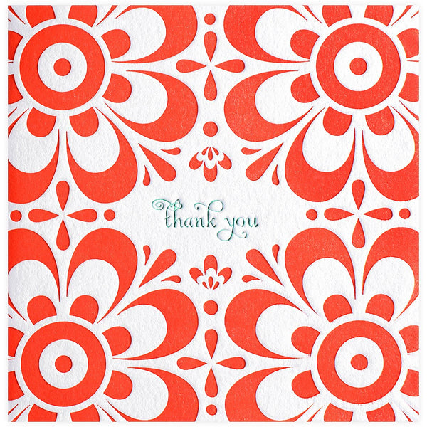 Elum Bloom Thank You Card - GREER Chicago Online Stationery Shop