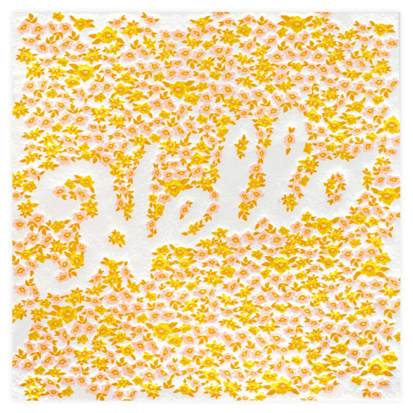 Blooming Hello Card By Elum