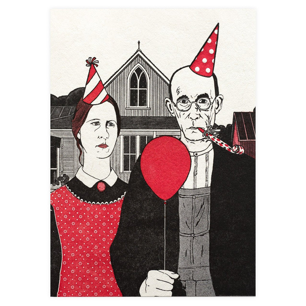 American Gothic Birthday Card By Blue Barnhouse