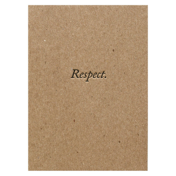 Blue Barnhouse Respect Greeting Card - GREER Chicago Online Stationery Shop