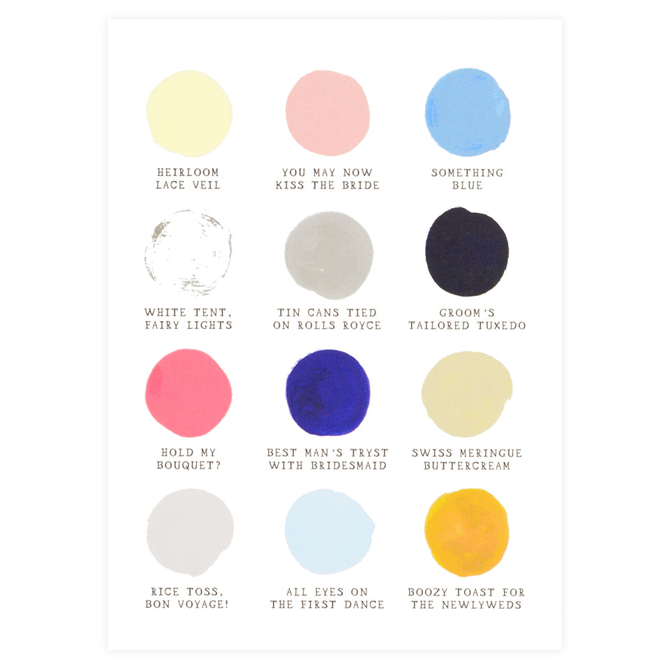 Mr. Boddington's Studio Wedding Color Palette Greeting Card