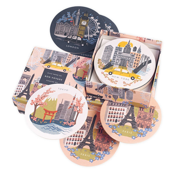 Cities Bon Voyage Coaster Set By Rifle Paper Co.