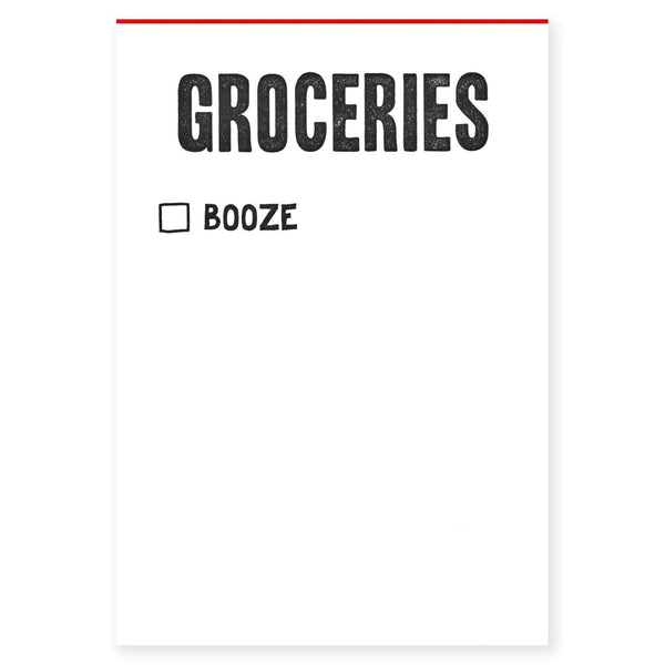 Groceries/Booze Notepad By Power & Light Press