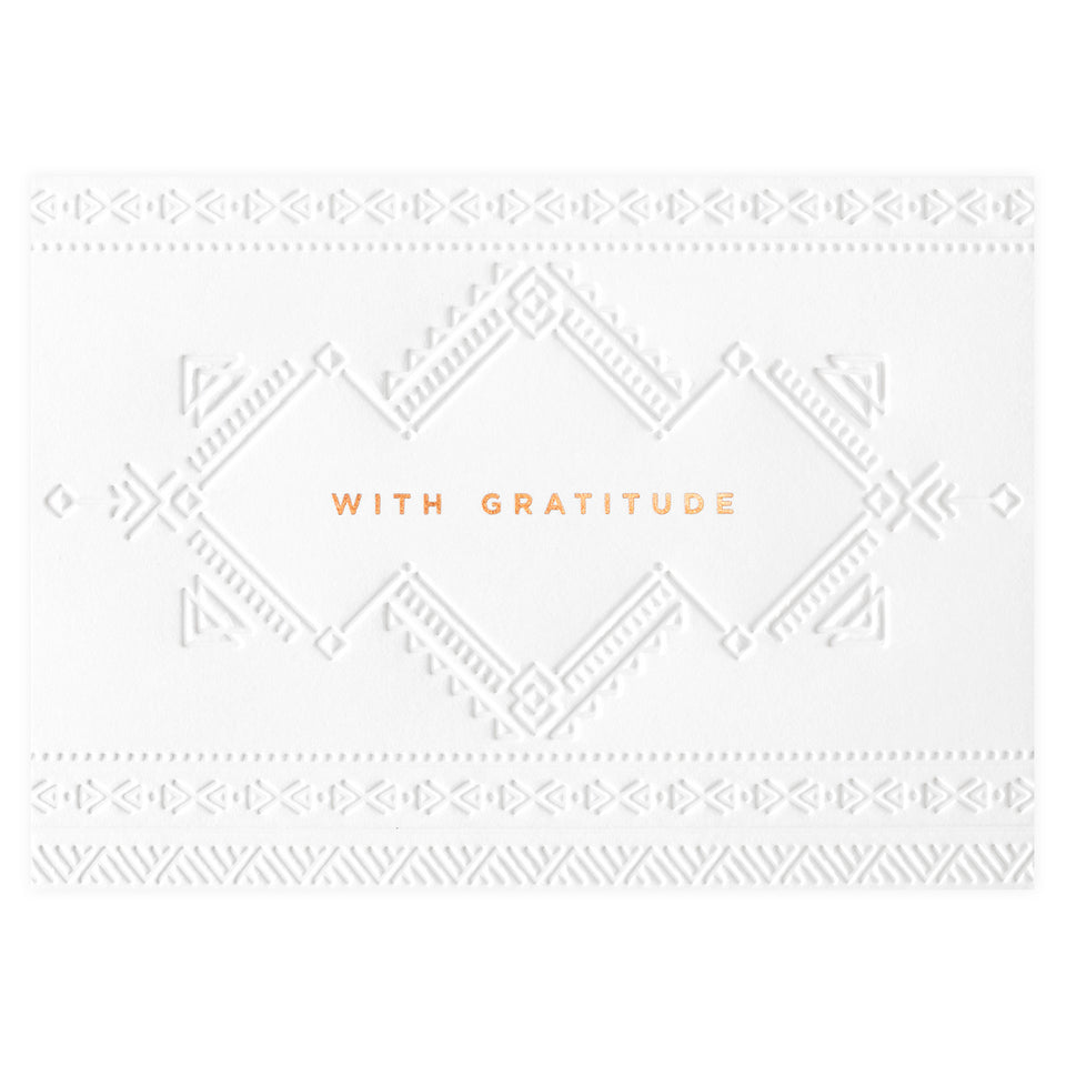 Bourne Paper Co. Aztec With Gratitude Thank You Card