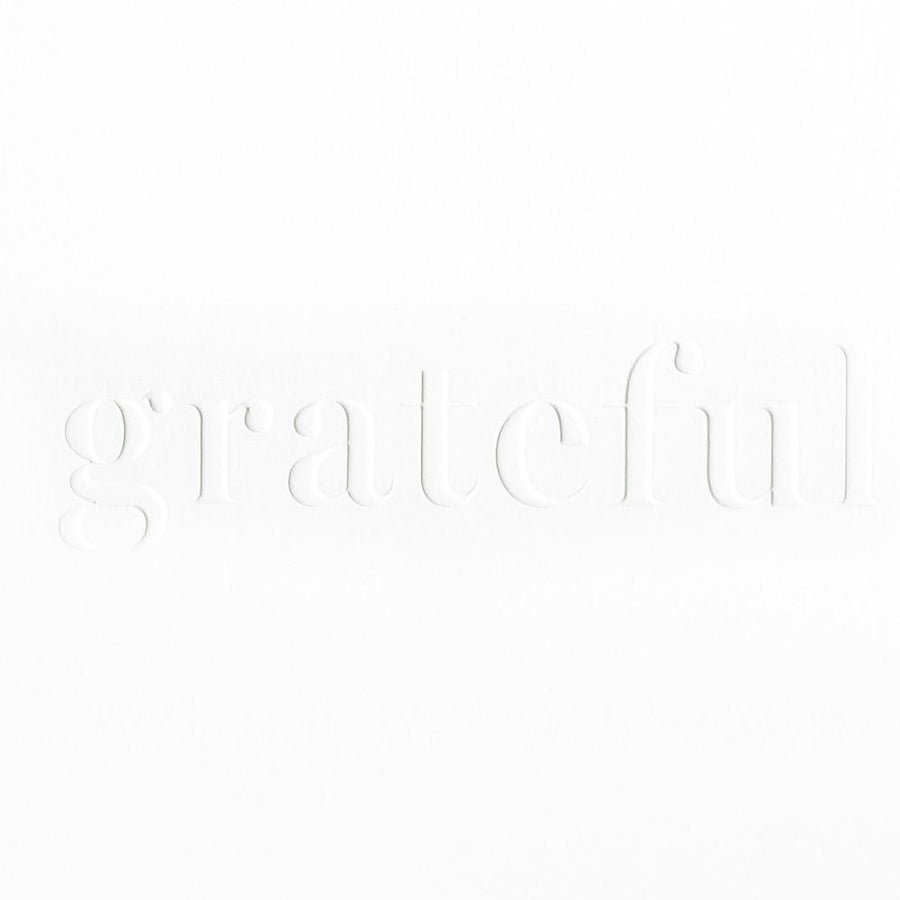 Bourne Paper Co. Embossed Grateful Thank You Card - GREER Chicago Online Stationery Shop