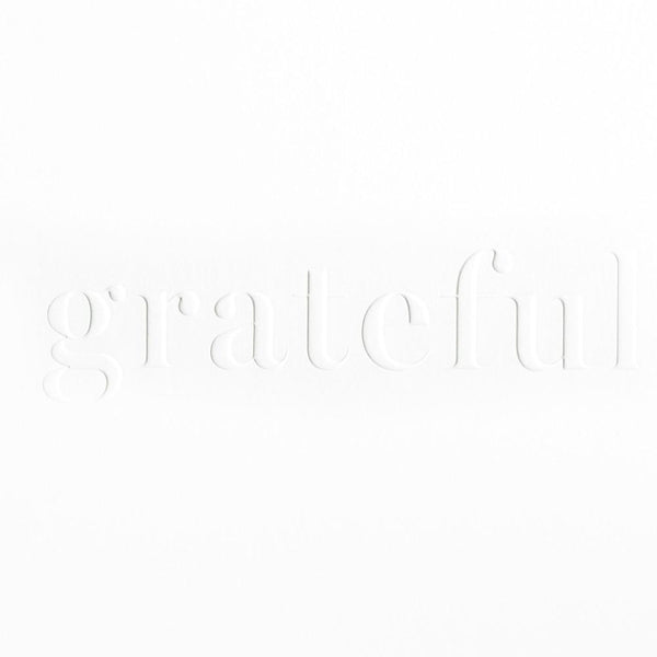 Embossed Grateful Thank You Card - GREER Chicago Online Stationery