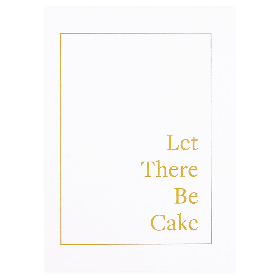 Bourne Paper Co. Let There Be Cake Birthday Card