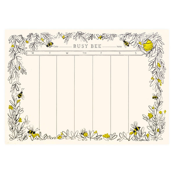 Busy Bee Weekly Desk Pad By Quill & Fox