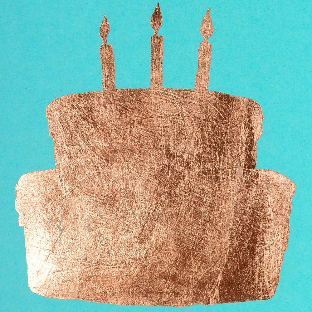 Cake Copper Leaf Greeting Card - GREER Chicago Online Stationery