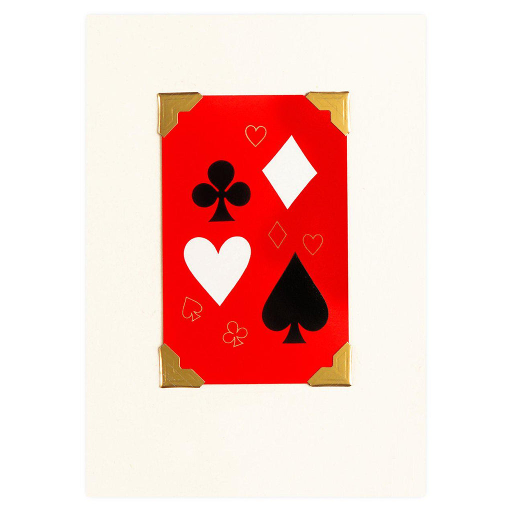 Vintage Playing Cards Card Suite Vintage Playing Card Greeting Card