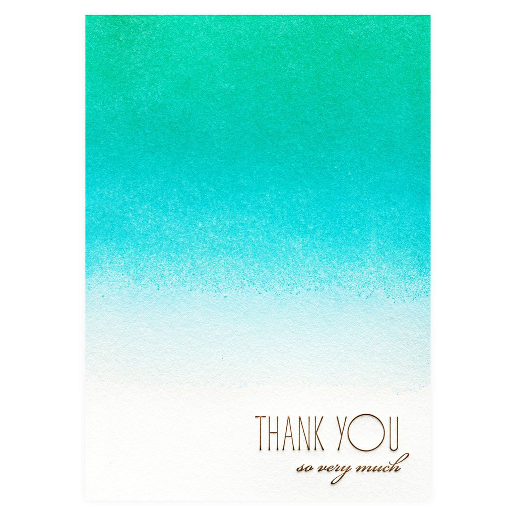 Caribbean Folded Thank You Cards Boxed - GREER Chicago Online Stationery