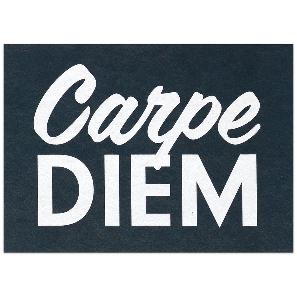 Carpe Diem Postcard By Calm Gallery - 1