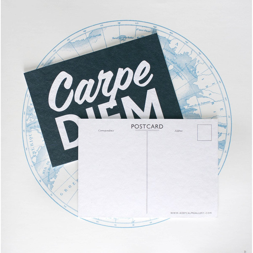 Carpe Diem Postcard By Calm Gallery - 2