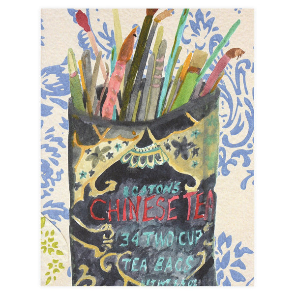 Chinese Tea Tin Greeting Card - GREER Chicago Online Stationery