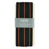 Angela Liguori Studio Carta Metallic Line Woven Cotton Ribbon 10 Yards Black/Copper