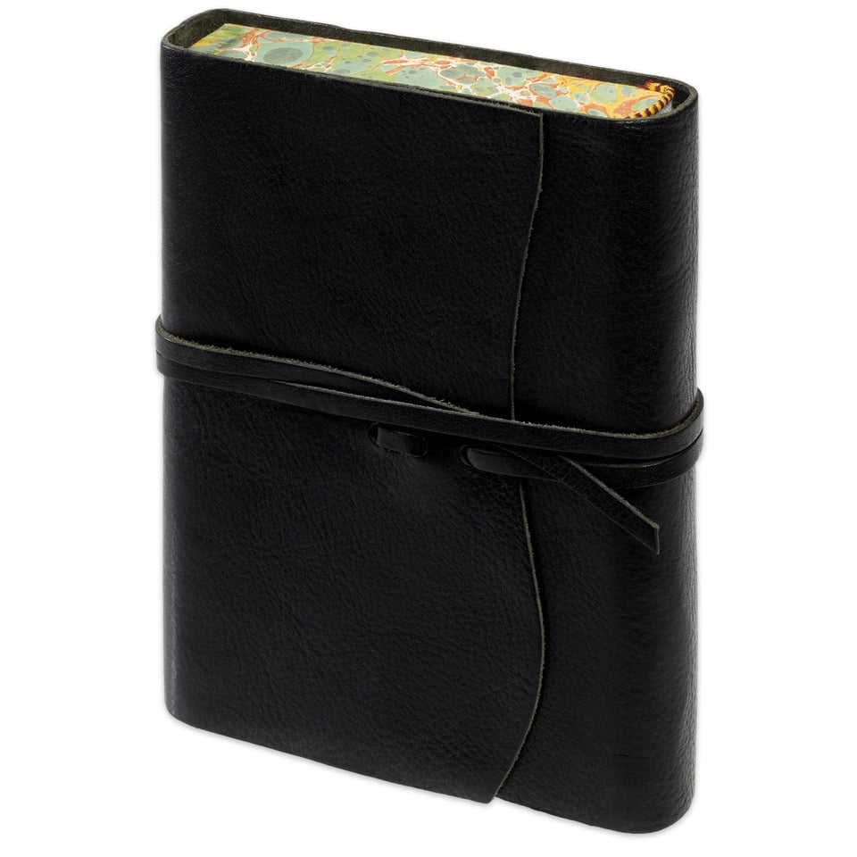 Cavallini Roma Lussa Softbound Leather Journal | In Four Colors black