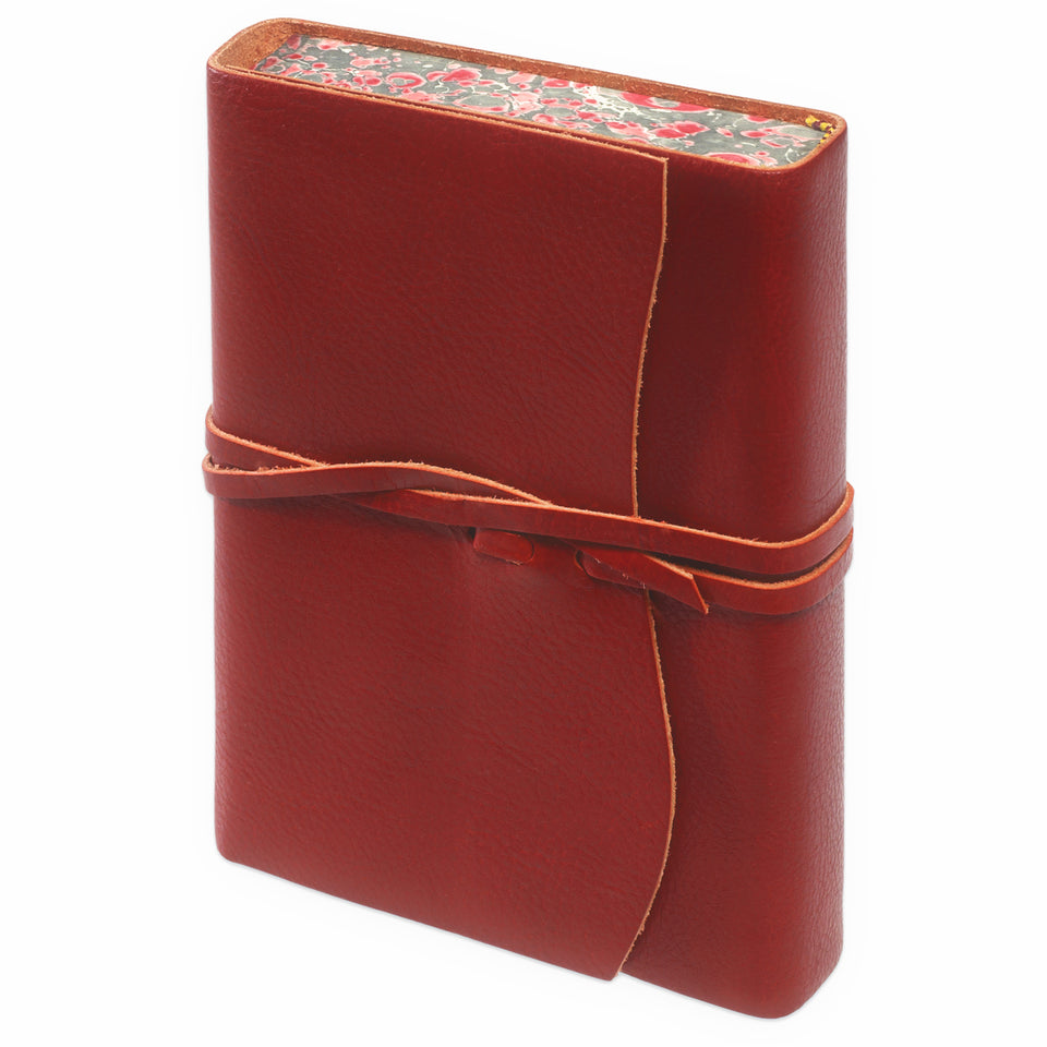 Cavallini Roma Lussa Softbound Leather Journal | In Four Colors red