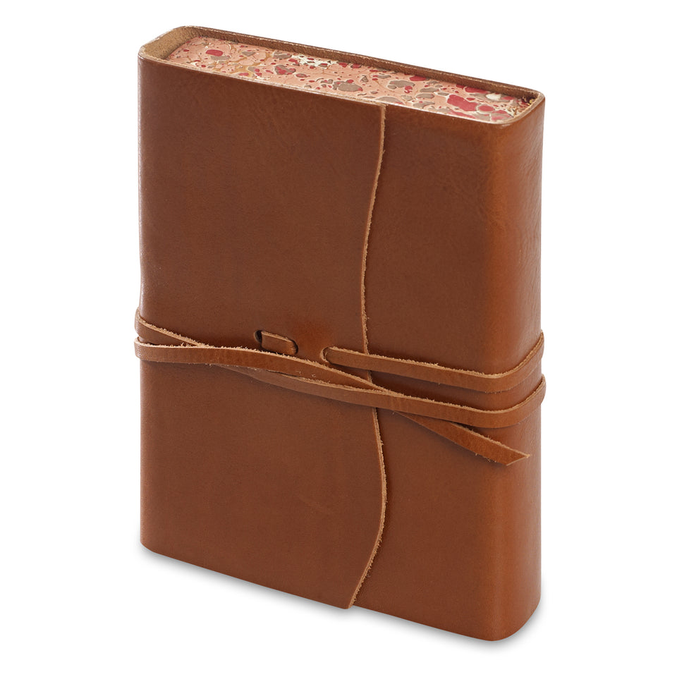 Cavallini Roma Lussa Softbound Leather Journal | In Four Colors saddle tan