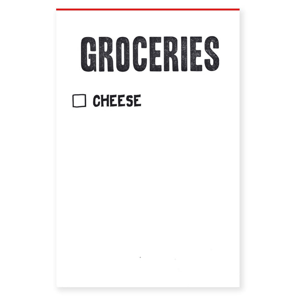 Power & Light Press Groceries/Cheese Notepad - GREER Chicago Online Stationery Shop