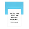 Chez Gagné Letterpress Favorite Coworker Coffee Maker Thank You Card - GREER Chicago Online Stationery Shop