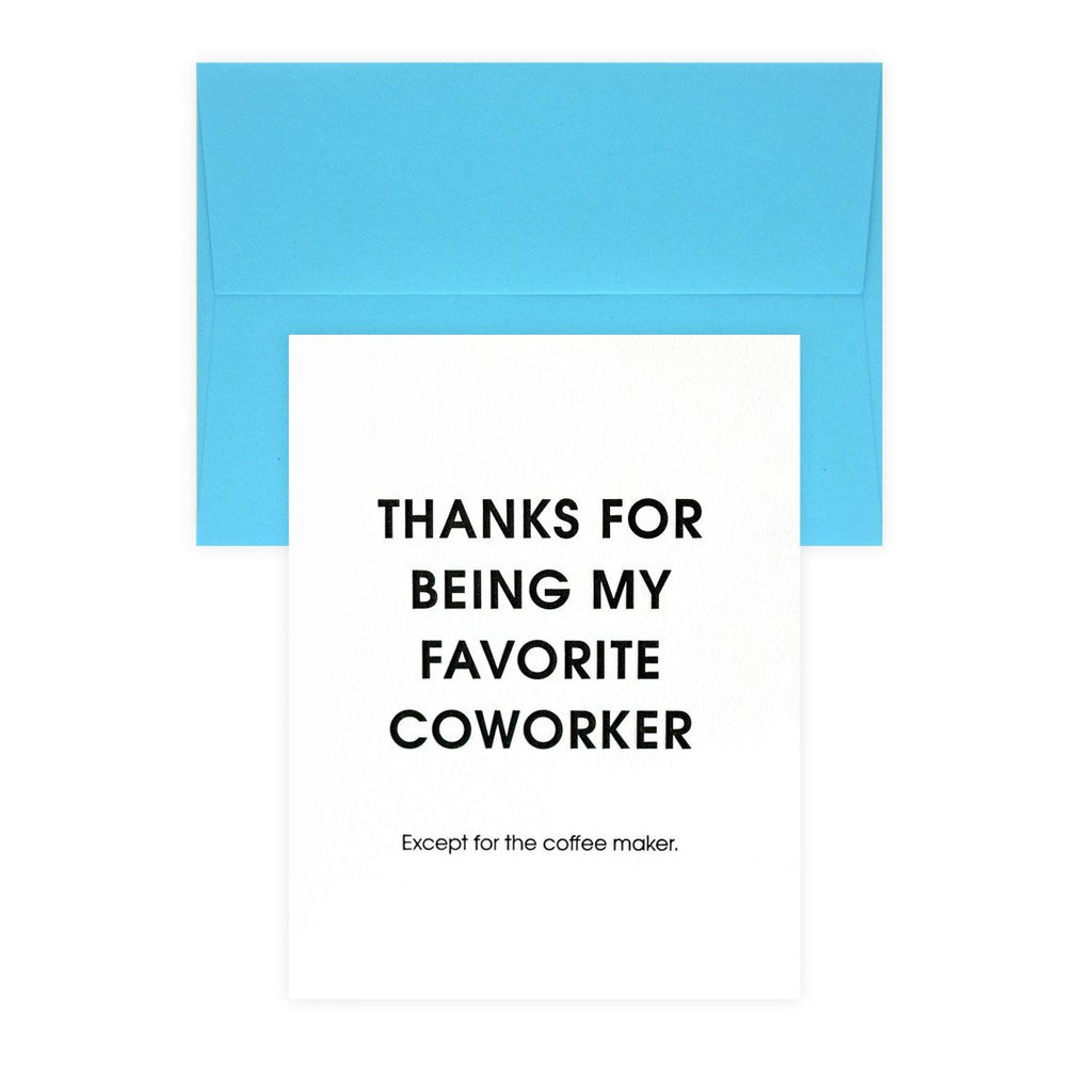 Favorite Coworker Coffee Maker Thank You Card By Chez Gagné Letterpress - 2