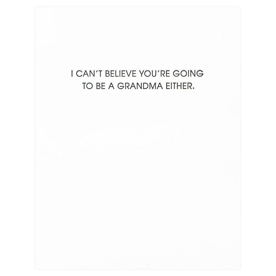 Chez Gagné Letterpress You're Going to be a Grandma New Baby Card