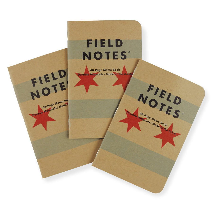 Field Notes Chicago Edition Grid Notebook Set Of Three