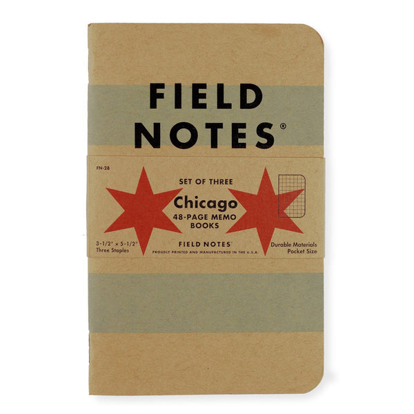 Chicago Edition Three Pack By Field Notes - 1