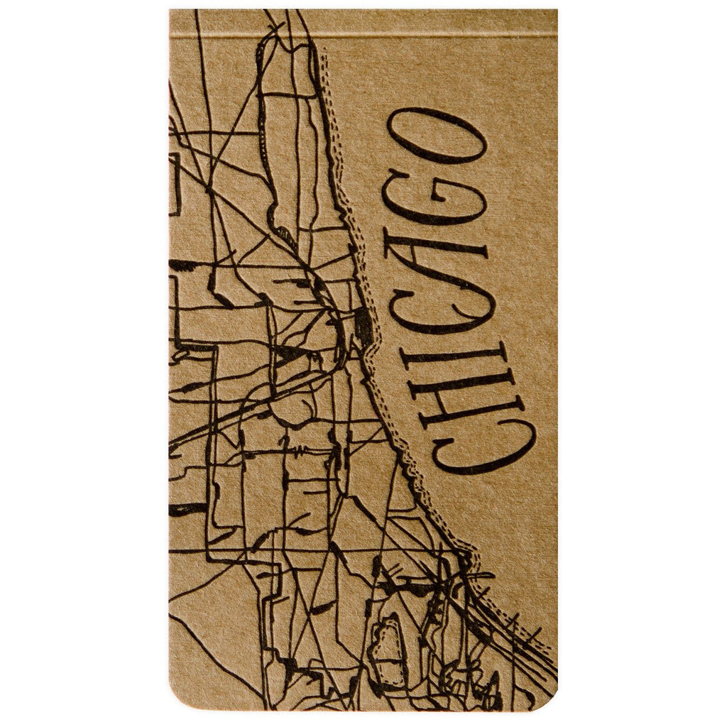 Chicago Notepad By Blackbird Letterpress