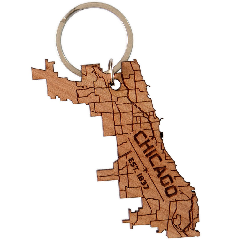 Neighborwoods Chicago Keychain - GREER Chicago Online Stationery Shop