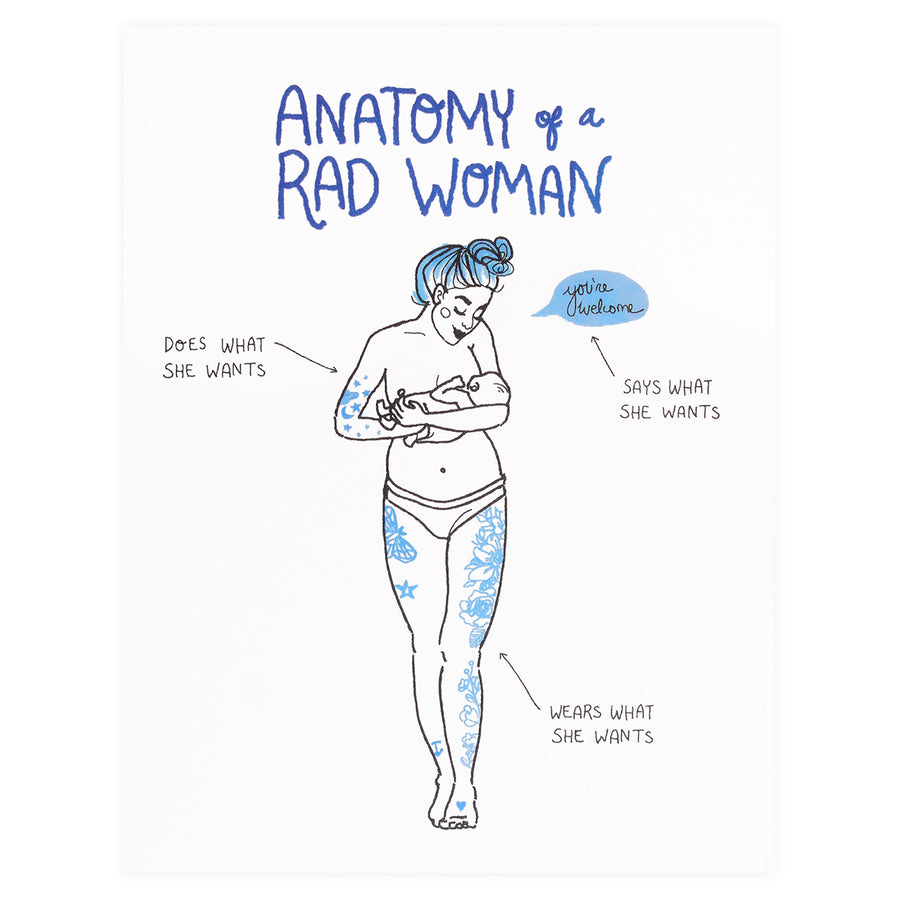 Christa Pierce Anatomy of a Rad Woman Greeting Card