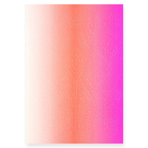 Ombre Paseo Neon Pink Notebook in three sizes - GREER Chicago Online Stationery