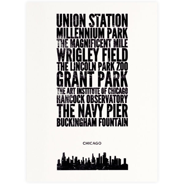 Cityprint Chicago Boxed Note Cards By Allport Editions
