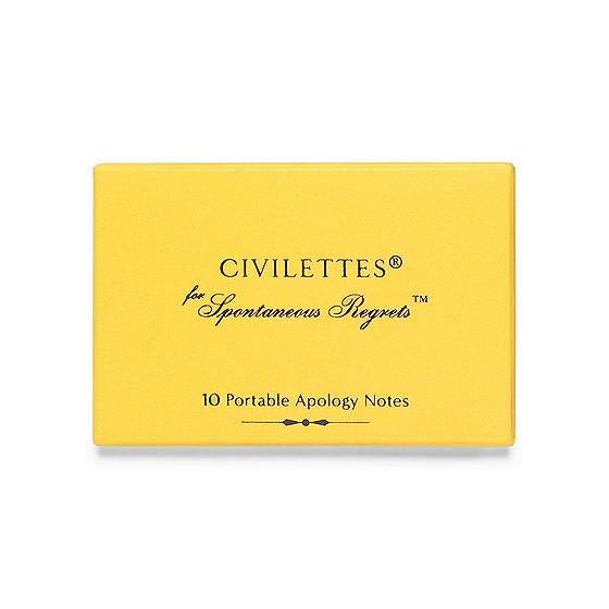 Civilettes Portable Apology Notes GREERChicago  - GREER Chicago