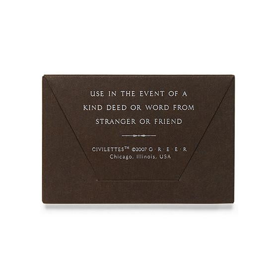 Civilettes Portable Thank You Notes - GREER Chicago Online Stationery