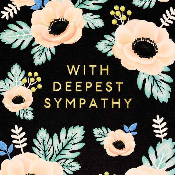 Clap Clap Anemone Sympathy Card - GREER Chicago Online Stationery Shop