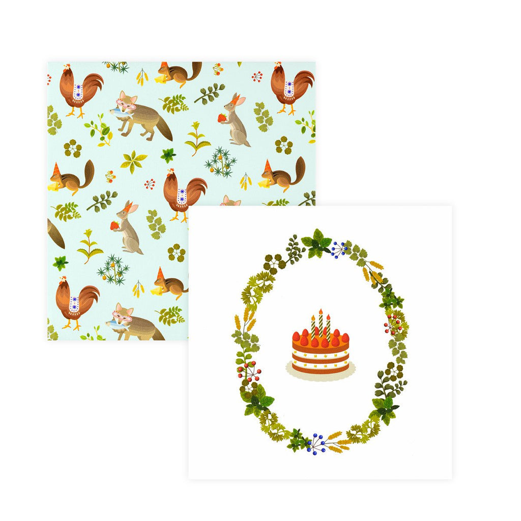 Chiffon Cake Birthday Card - GREER Chicago Online Stationery
