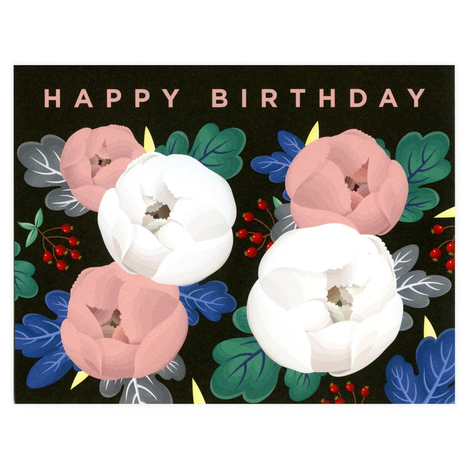 Clap Clap Birthday Peonies Greeting Card