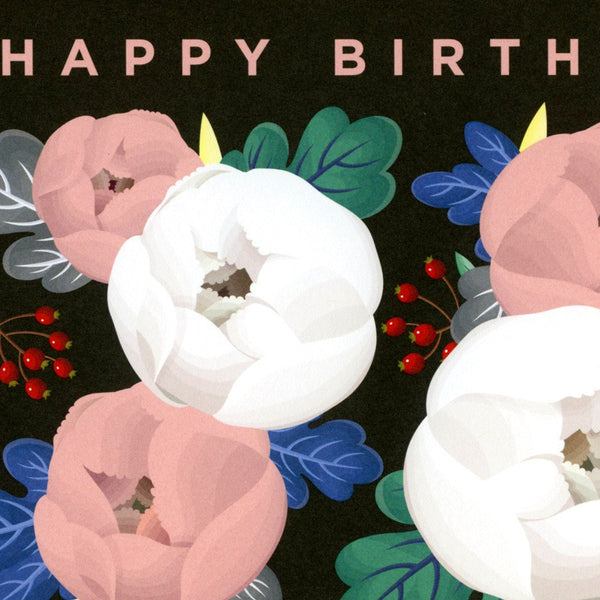 Clap Clap Birthday Peonies Card - GREER Chicago Online Stationery Shop