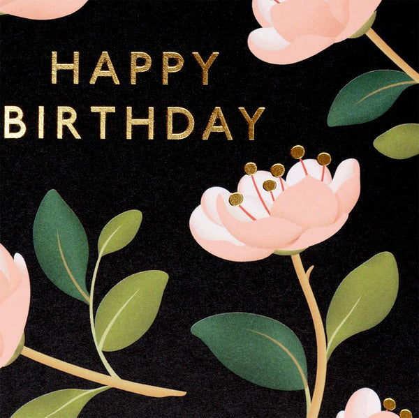 Magnolia Birthday Card Black By Clap Clap - 1