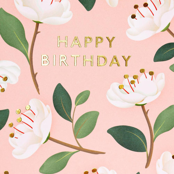 Magnolia Birthday Card Blush By Clap Clap - 1