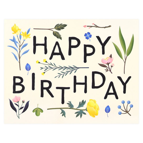 Clap Clap Plant Variety Birthday Card - GREER Chicago Online Stationery Shop