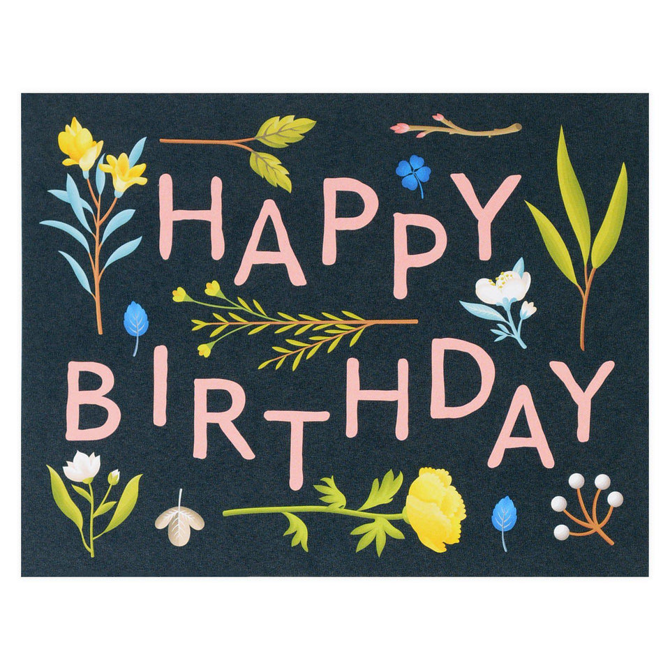 Clap Clap Plant Variety Birthday Card Navy