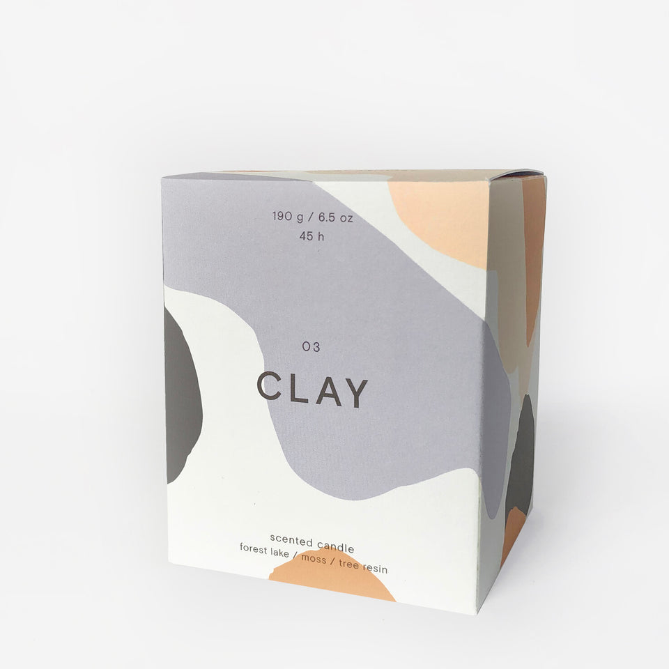 "Wrap ""Clay"" Scented Candle 