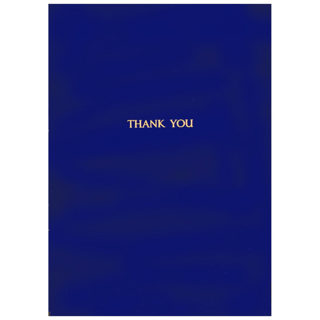 Gold Foil Thank You Cobalt - GREER Chicago Online Stationery