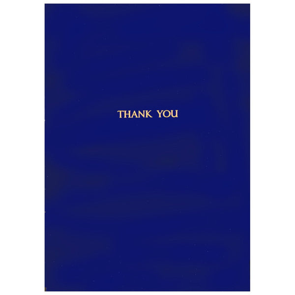 Gold Foil Thank You Cobalt By GREERChicago