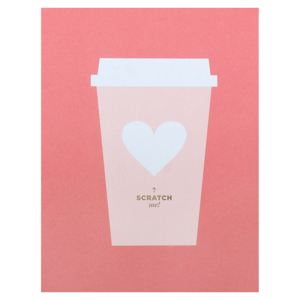 Inklings Paperie Coffee Love Scratch-Off Greeting Card