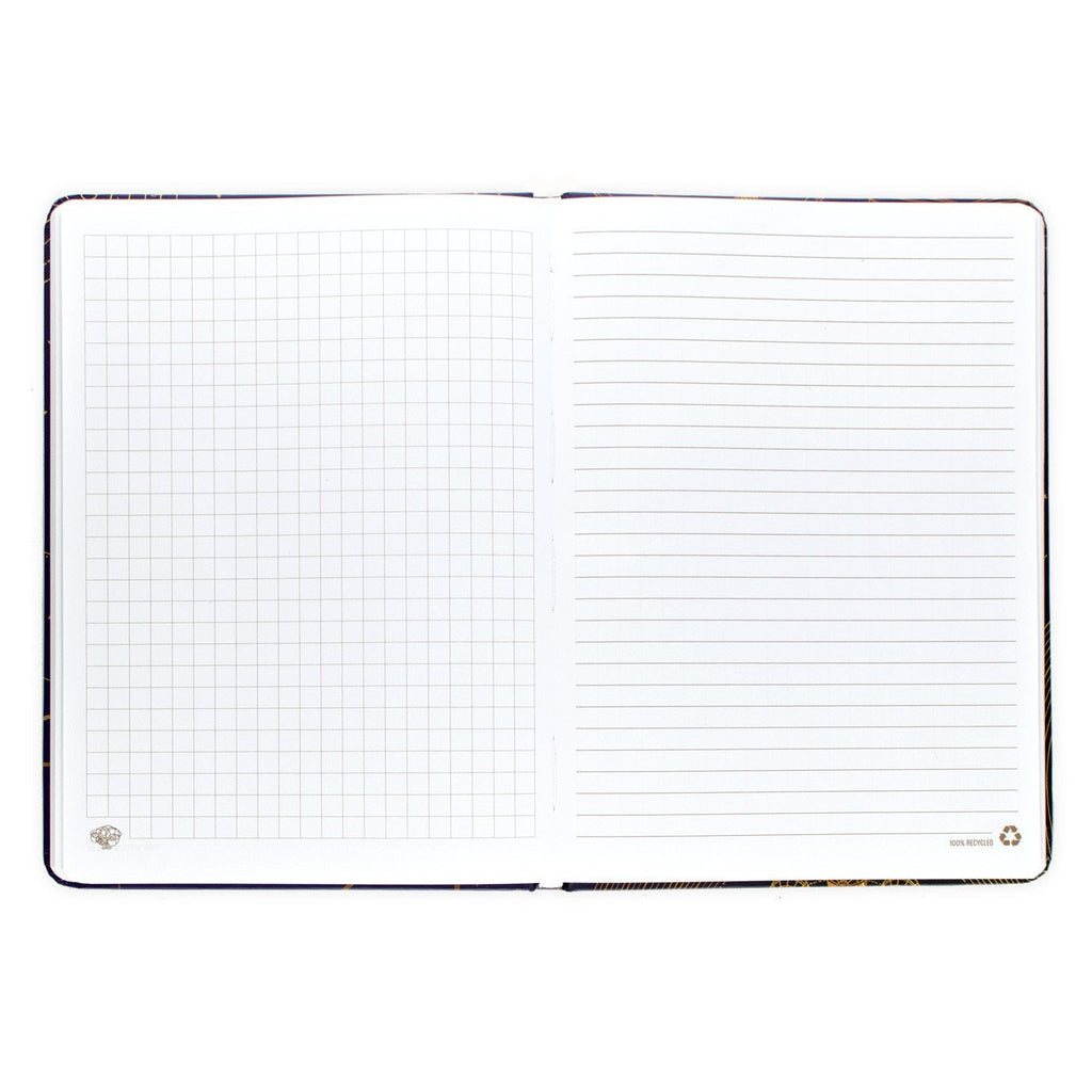 Universe Models Lined Grid Hardcover Journal By Cognitive Surplus - 2