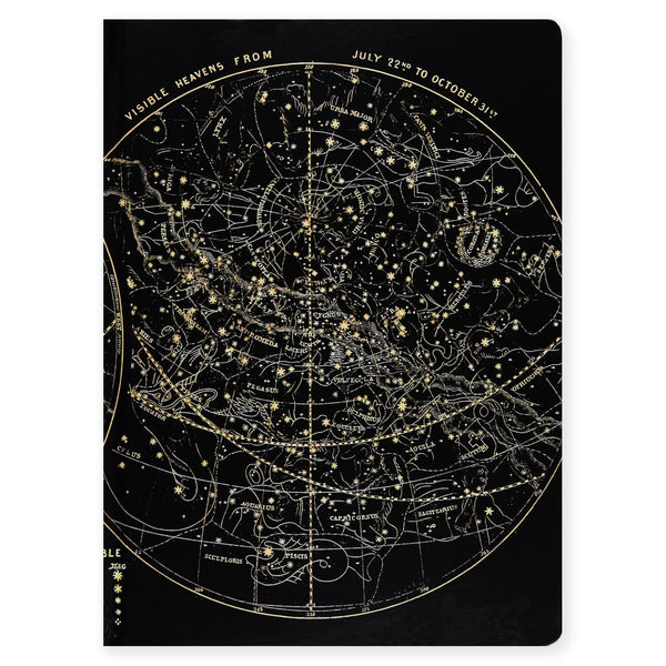 Cognitive Surplus Star Chart Extra Large Blank Hardcover Journal - GREER Chicago Online Stationery Shop