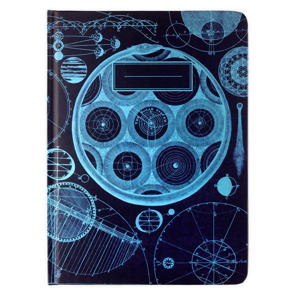 Universe Models Lined Grid Hardcover Journal By Cognitive Surplus - 1